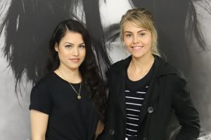Ashleigh Pearce and Leané van Maarleveld, Salon Support students.