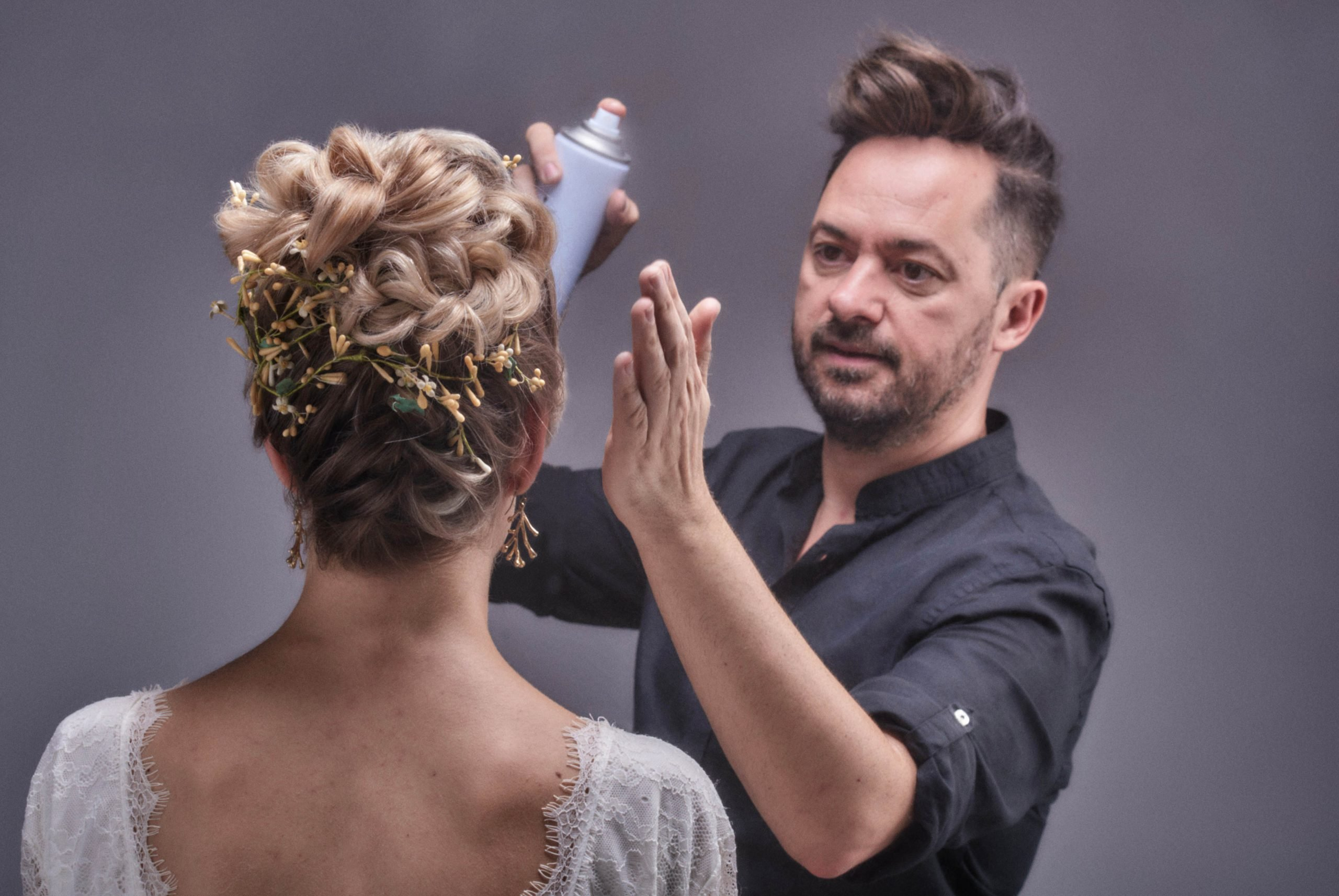 Crossed braids Up-Do with Juanmy Medialdea