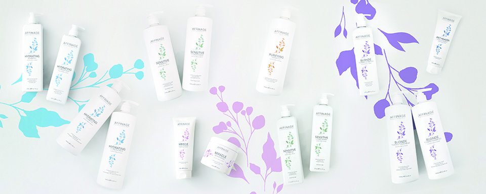 Affinage Professional vegan cleanse and care hair range