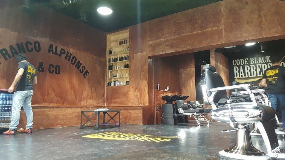 Code Black Barbershop interior 1